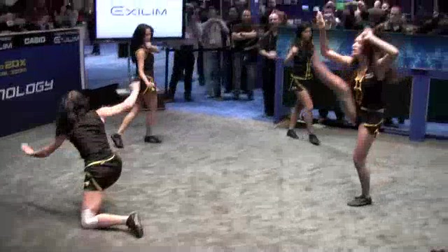 Casio Girls Perform Martial Arts at CES 2010