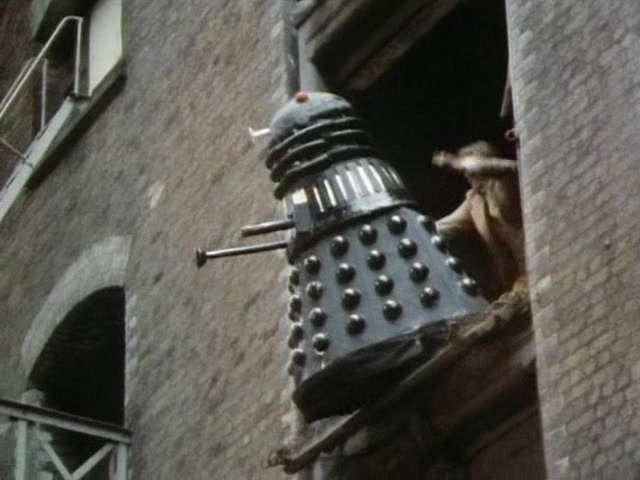 Pushing A Dalek Out The Window