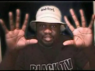 Public Service Annoucement Big Black Get Out And Vote