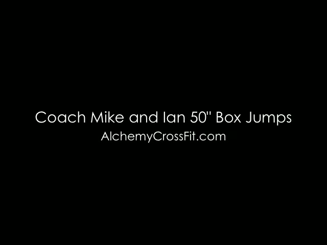 50 inch Box Jumps at Hamilton's Alchemy CrossFit