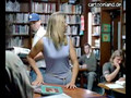 Tara Reid Goes to the Library