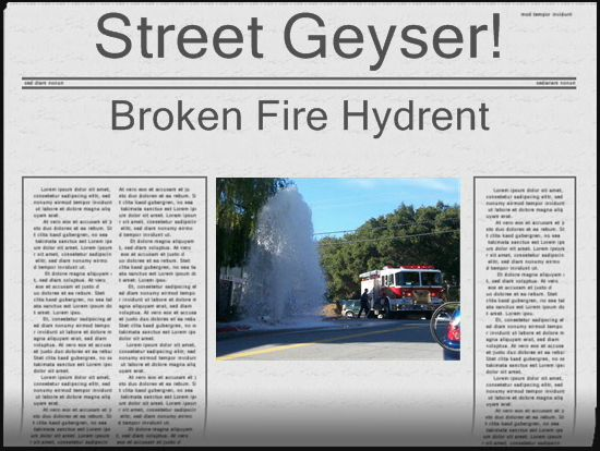The Broken Fire Hydrant