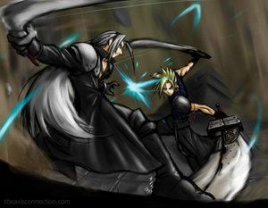 KH:Final Mix-Cloud VS Sephiroth