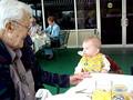 Kiss from great-grandpa