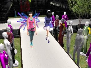 The Sims 2 Fashion show