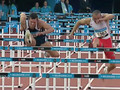 Slow Mo 110m Hurdles race