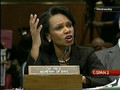 2/13/08 Iraq War Budget: Sen. Boxer Vs. Rice