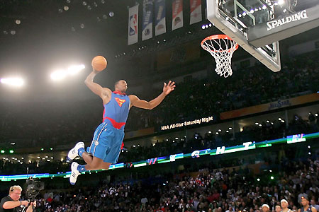 "Orlando ""Superman"" Howard wins NBA Slam Dunk title"