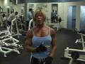 Vicki Nixon working out