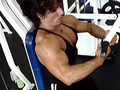 Annie Rivieccio working out
