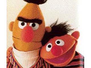 Bert and Ernie Sesame Street Cookies in Bed