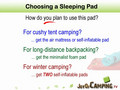 Sleeping Pad - Choose from 3 Types