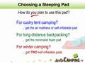 Sleeping Pad - Choose from 3 Types