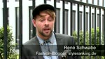 Modische Botschaft: Modeblogger René Schwabe scoutet in Düsseldorf