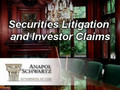 Securities Litigation and Investor Claims: Information for Those Who Have Lost Money in the Stock Market