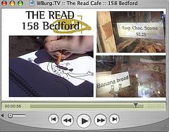 WBurg.TV :: The Read Cafe :: 158 Bedford Avenue :: Williamsburg 11211