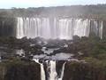 Giant Iguassu Falls on the Argentina-Brazil Border