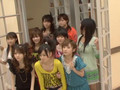 Sayumi Michishige is stairs and ..missing one's step...