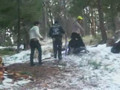 sledding at the miller cabin