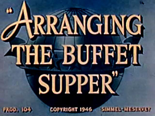 Arranging a Buffet Supper