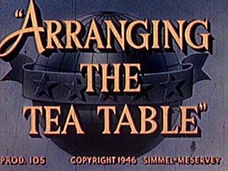 Arranging The Tea Table