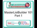 Internet Marketing: The MasterListBuilder Way