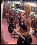 Andrea Carvalho in the gym