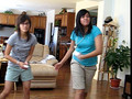 Wii Tennis- Tracy & Kathy