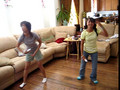 Wii Tennis- Norie & Tracy