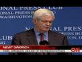 """Gingrich: """"We are sleepwalking..."""""""