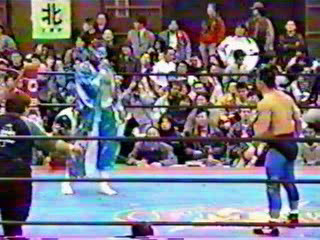 Hayabusa vs Taka Michinoku, FMW 11/16/96.