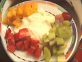 CCuisine5: stuffed grapeleaves, cod moussaka, mascarpone with fresh fruit