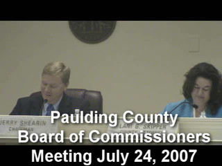 Commission's official actions 07/24/07
