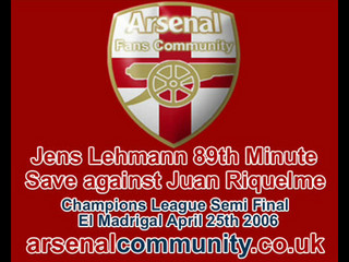 Lehmann 89th Minute Save CL Semi Final