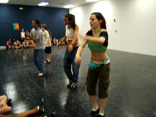 Patrick, Emily, Christen, & Angela with Mark in tap class