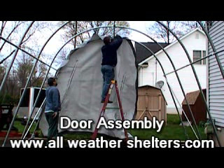 Portable garage & carport install demonstration-See how easy it is!