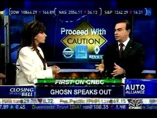 Carlos Ghosn On CNBC -- Closing Bell