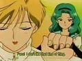 Michiru first meets Haruka
