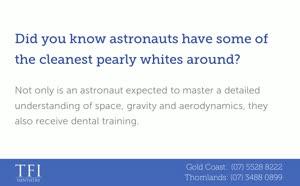 Make like an astronaut and brush your teeth